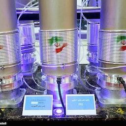 IR6 Centrifuges at exhibition of nuclear industry achievements. Tehran, Iran, April 10, 2019. Source: Meghdad Madadi/Tasnim News Agency.