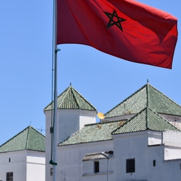 Flag of Morocco at Casablanca's New Medina, June 22, 2019. (Photo via Getty Images)