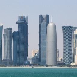 آسمان دوحه؛  دوحه، قطر، ۱ اسفند ۱۳۹۲/ ۲۰ فوریه ۲۰۱۴ (عکس از گتی ایمیجز)