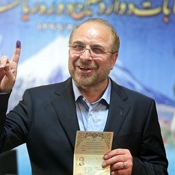 Mohammad Baqer Qalibaf after registering his candidacy in the 2020 Iranian parliamentary elections. Tehran, Iran, Dec. 7, 2019. (Photo by Mohammad Ali Marizad via Tasnim News Agency)