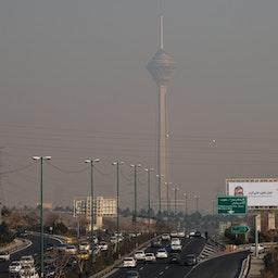 A view of a polluted Tehran, Iran. Jan. 10, 2021. (Photo by Sajjad Tolouei via Fars News Agency)