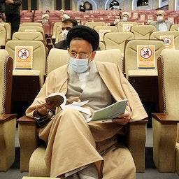 محمود علوی وزیر اطلاعات ایران در مراسم رونمایی یک کتاب. تهران، ایران. ۲۱ بهمن ۱۳۹۹ (عکس از محمدعلی مریزاد/ خبرگزاری تسنیم).