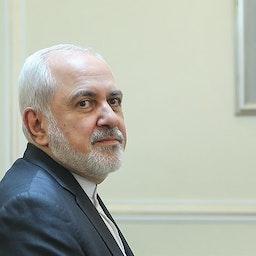 Foreign Minister Mohammad Javad Zarif at Iran's foreign ministry building. Tehran, Iran. Oct. 16, 2019. (Photo by Masoud Shahrestani via Tasnim News Agency)