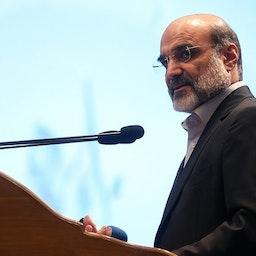 IRIB Chairman Abdulali Ali Asgari at the closing ceremony of a state TV festival. Tehran, Iran. Dec. 25, 2019. (Photo by Naser Jafari via Tasnim News Agency)