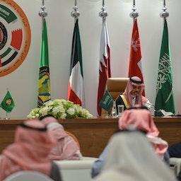 Saudi Arabia's foreign minister speaks at the end of the GCC's 41st summit, Al-Ula, Saudi Arabia on Jan. 5, 2021 (Photo via Getty Images)