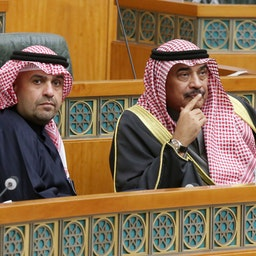 Kuwait's prime minister attends a parliament session in Kuwait City on Jan. 9, 2020 (Photo via Getty Images)
