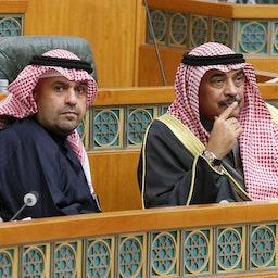 شرکت نخستوزیر کویت در جلسه پارلمان این کشور؛ شهر کویت، ۱۹ دی ۱۳۹۸/ ۹ ژانویه ۲۰۲۰ (عکس از گتی ایمیجز)