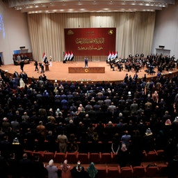 The opening session of new Iraqi parliament held at the parliament building on Sep. 3, 2018 in Baghdad, Iraq. (Photo via Getty Images)