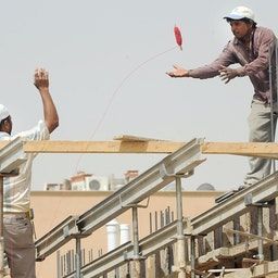 Foreign workers at a construction site in Riyadh, Saudi Arabia on April 10, 2013 (Photo via Getty Images)