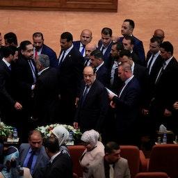 حضور نخستوزیر پیشین عراق و رهبر ائتلاف دولت قانون نوری المالکی در جلسه افتتاحیه پارلمان عراق در ۱۲ شهریور ۱۳۹۷/ ۳ سپتامبر ۲۰۱۸، بغداد، عراق (عکس از گتی ایمیجز)
