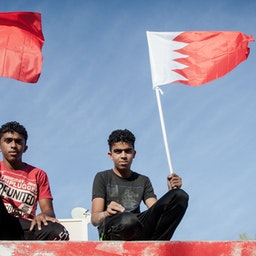 Teenagers during anti-government demonstrationsin Bahrain on May 16, 2014 (Photo via Getty Images)