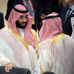 Saudi Arabia's Crown Prince Mohammed bin Salman attends the G20 Summit in Osaka, Japan on June 28, 2019. (Photo via Getty Images)