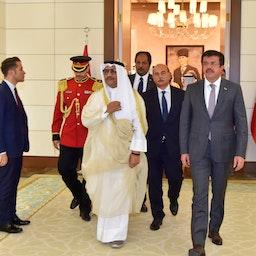 شیخ جابر المبارک نخست وزیر سابق کویت، در سفری رسمی به ترکیه؛ ۲۳ شهریور ۱۳۹۶/ ۱۴ سپتامبر ۲۰۱۷ (عکس از گتی ایمجز)