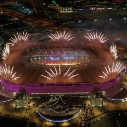Qatar inaugurates its fourth FIFA World Cup 2022 venue in Doha on Dec. 18, 2020 (Photo via Getty Images)