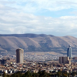 An overview of the Iraqi Kurdish town of Sulaimaniyah on Nov. 21, 2013. (Photo by Diyar Muhammed)
