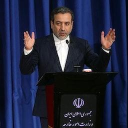 Iranian Deputy Foreign Minister Abbas Araqchi at a news conference in Tehran on Jan. 15, 2017. (Photo by Mahmoud Hosseini via Tasnim News Agency)