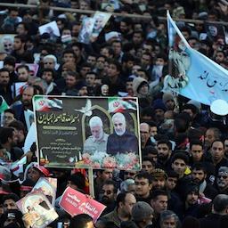 Thousands of Iranians pay tribute to late commander Qasem Soleimani in Kerman, Iran on Jan. 7, 2020. (Photo Via Tasnim News Agency)