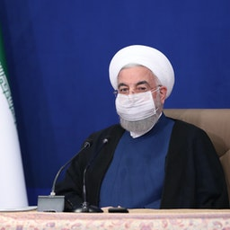 Iran's President Hassan Rouhani chairs a cabinet meeting in Tehran on May 20, 2021. (Photo via president.ir)