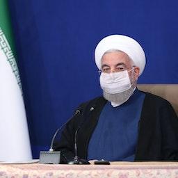 الرئيس الإيراني حسن روحاني يترأس اجتماعا لمجلس الوزراء في طهران في 20 مايو/أيار 2021 (الصورة من موقع President.ir)