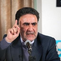 Iran's Reformist banned candidate Mostafa Tajzadeh in a debate in Tehran. Jan. 23, 2019. (Photo by Vahid Ahmadi via Tasnim News Agency)