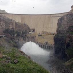 The Dukan dam  in Sulaimaniyah in Iraq's Kurdistan region, Jan. 29, 2011.  (Photo via Getty Images)