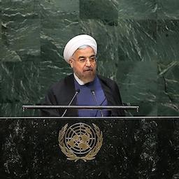 الرئيس الإيراني حسن روحاني يلقي كلمة في الدورة 74 للجمعية العامة للأمم المتحدة في نيويورك، الولايات المتحدة. 25 سبتمبر/ أيلول 2019 ( الصورة عبر الموقع الرسمي للرئاسة الإيرانية)