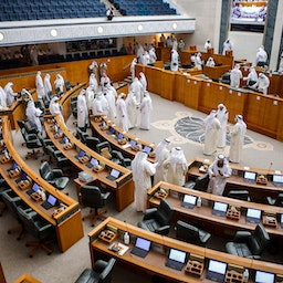 Members of parliament in Kuwait's National Assembly in Kuwait City. April 27, 2021. (Photo via Getty Images)