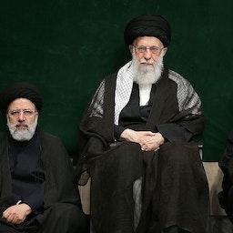 Iran's Supreme Leader Ayatollah Ali Khamenei along with President Hassan Rouhani and then judiciary chief Ebrahim Raisi in Tehran on Sept. 7, 2019. (Photo via Iran's supreme leader's website)