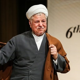 Late Iranian two-time president Akbar Hashemi Rafsanjani at a summit in Tehran on May 27, 2015. (Photo by Hamd Malekpour via Tasnim News Agency)