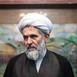 رئيس جهاز استخبارات الحرس الثوري الإيراني، حسين طائب، في حفل في طهران. 24 يونيو/ حزيران 2018 (تصوير حامد ملك بور عبر وكالة تسنيم للأنباء)
