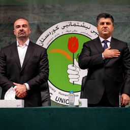 Patriotic Union of Kurdistan leaders Lahur Talabany (R) and Bafel Talabani (L)  on June 15, 2021. (Photo via Facebook/@LahurTalabany)