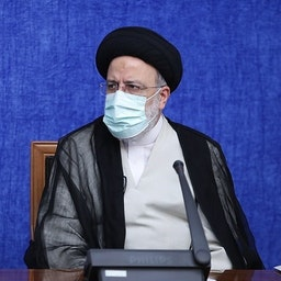 Iran's President Ebrahim Raisi at a meeting in Tehran on Aug. 7, 2021. (Photo via Iran's president's website)
