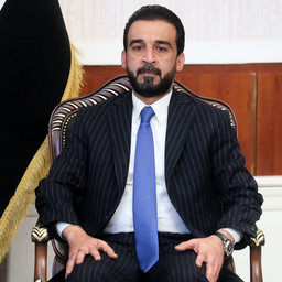 Iraq's Parliament Speaker Mohammed Al-Halbousi in a meeting in Baghdad on Oct. 7, 2019. (Photo via Getty Images)