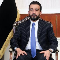 محمد الحلبوسی، رئیس پارلمان عراق، در نشستی در بغداد؛  ۱۵ مهر ۱۳۹۸/ ۷ اکتبر ۲۰۱۹. (عکس از گتی ایمیجز)