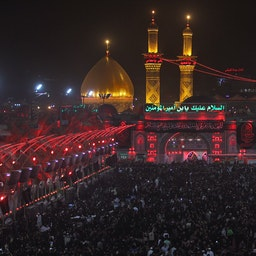 Shiite pilgrims take part in a ceremony at the Hussein ibn Ali Shrine in the southern Iraqi city of Karbala  on Sept. 19, 2018. (Photo via Getty Images)