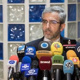 علي باقري كاني، الرئيس السابق للمجلس الأعلى للقضاء الإيراني لحقوق الإنسان. طهران، 14 مارس/ آذار 2021. (الصورة لمحمد رضا عباسي عبر وكالة مهر للأنباء)