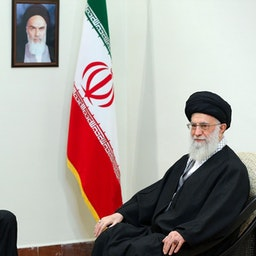 Azerbaijani President Ilham Aliyev in a meeting with Iran's Supreme Leader Ayatollah Ali Khamenei in Tehran on Mar. 5, 2017. (Photo via Iran's Leader's website)