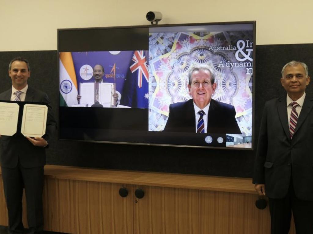 Memorandum of Understanding between Australia and India (Image credit: Australian Space Agency LinkedIn)