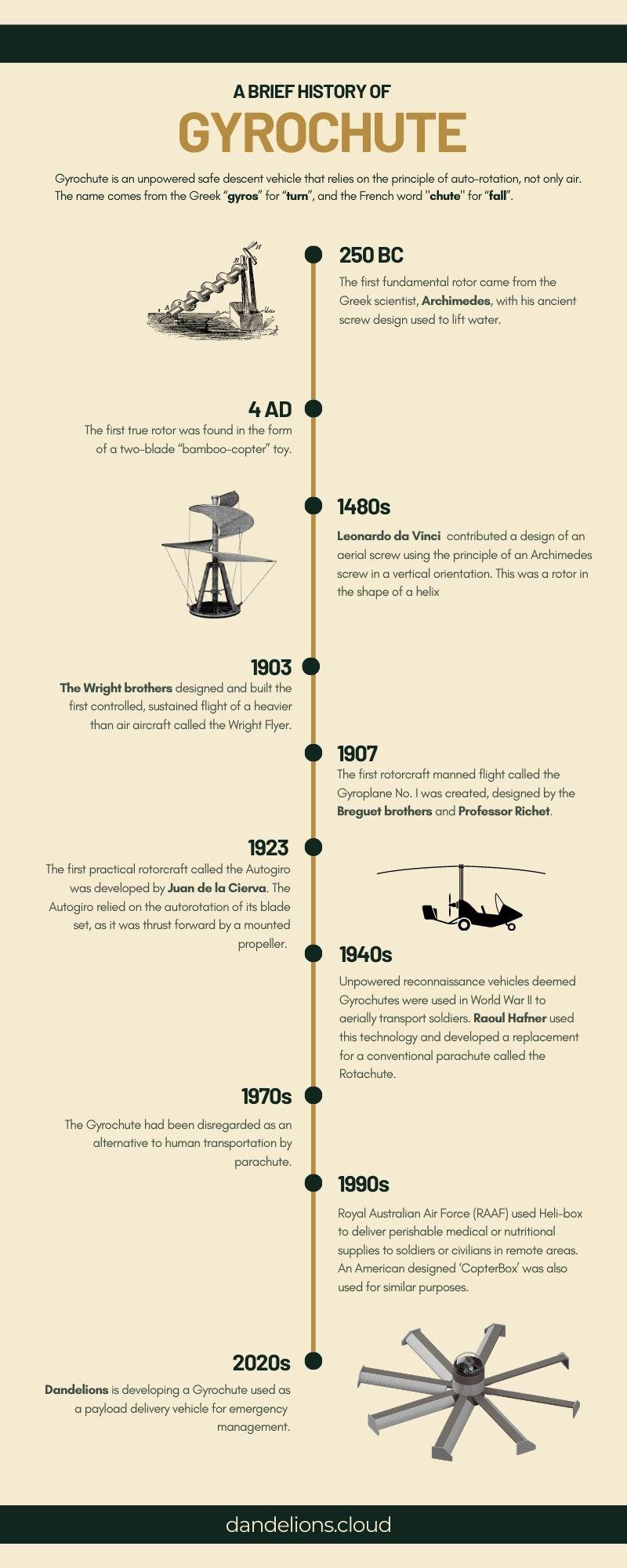 Gryochute Brief History Infographic
