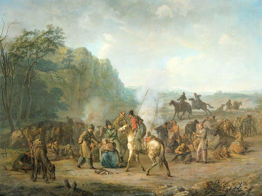 Cossack Bivouac, 1813, Courtesy of Rijksmuseum, Europeana.