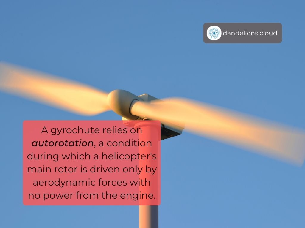 A Gyrochute relies on autorotation.