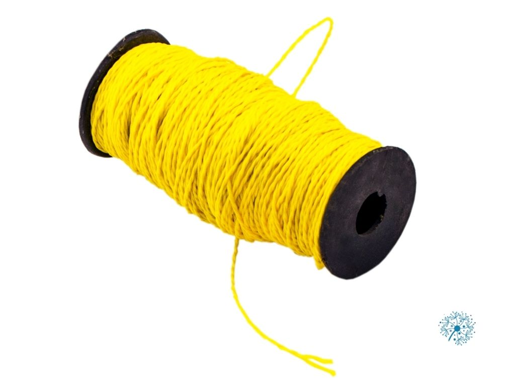 Nylon string is flexible, making it easy to coil up