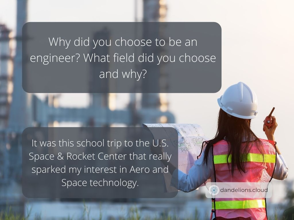 A school trip made Lea interested in becoming an Aerospace Engineer