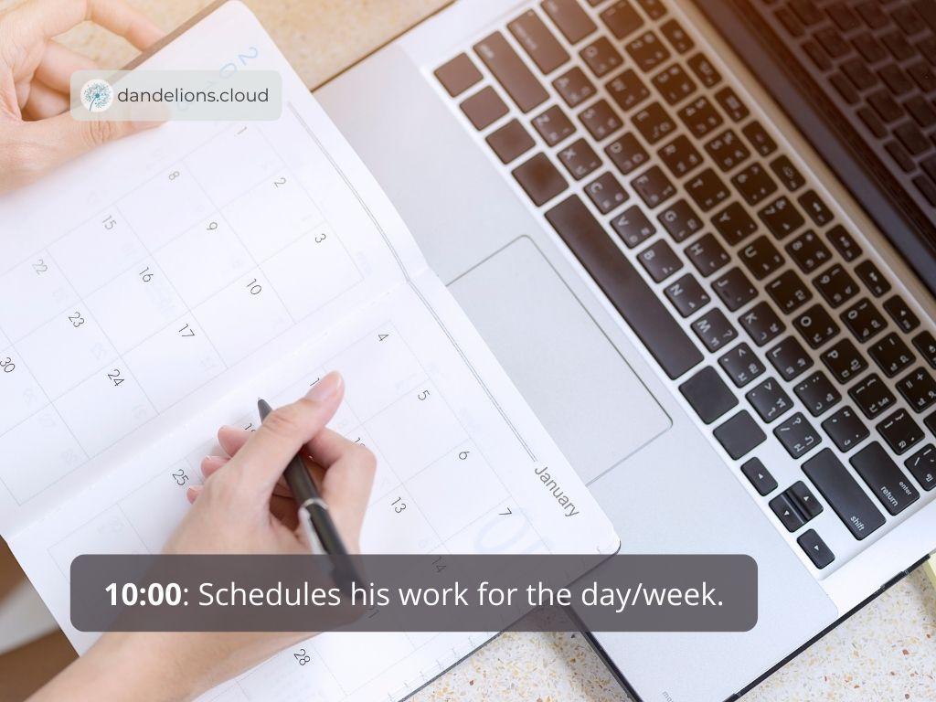 Scheduling workload.