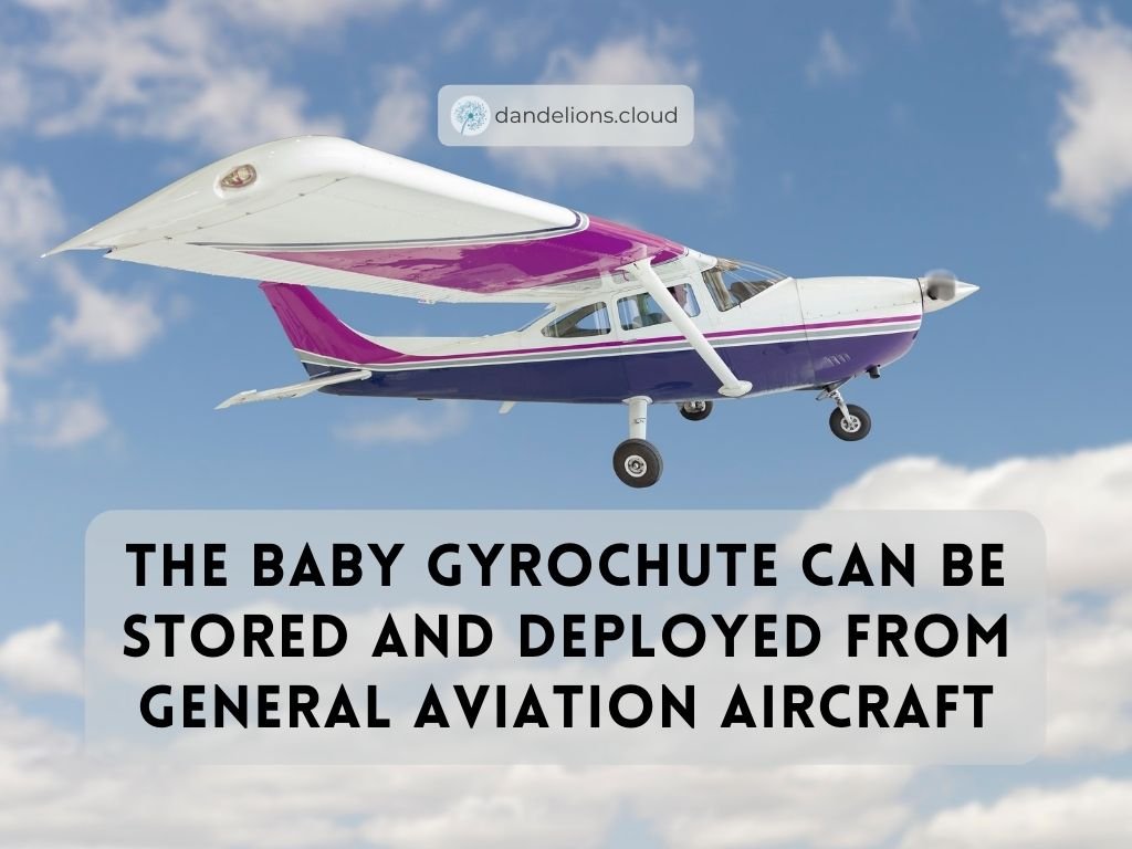 The Baby Gyrochute can be stored and deployed from general aviation aircraft