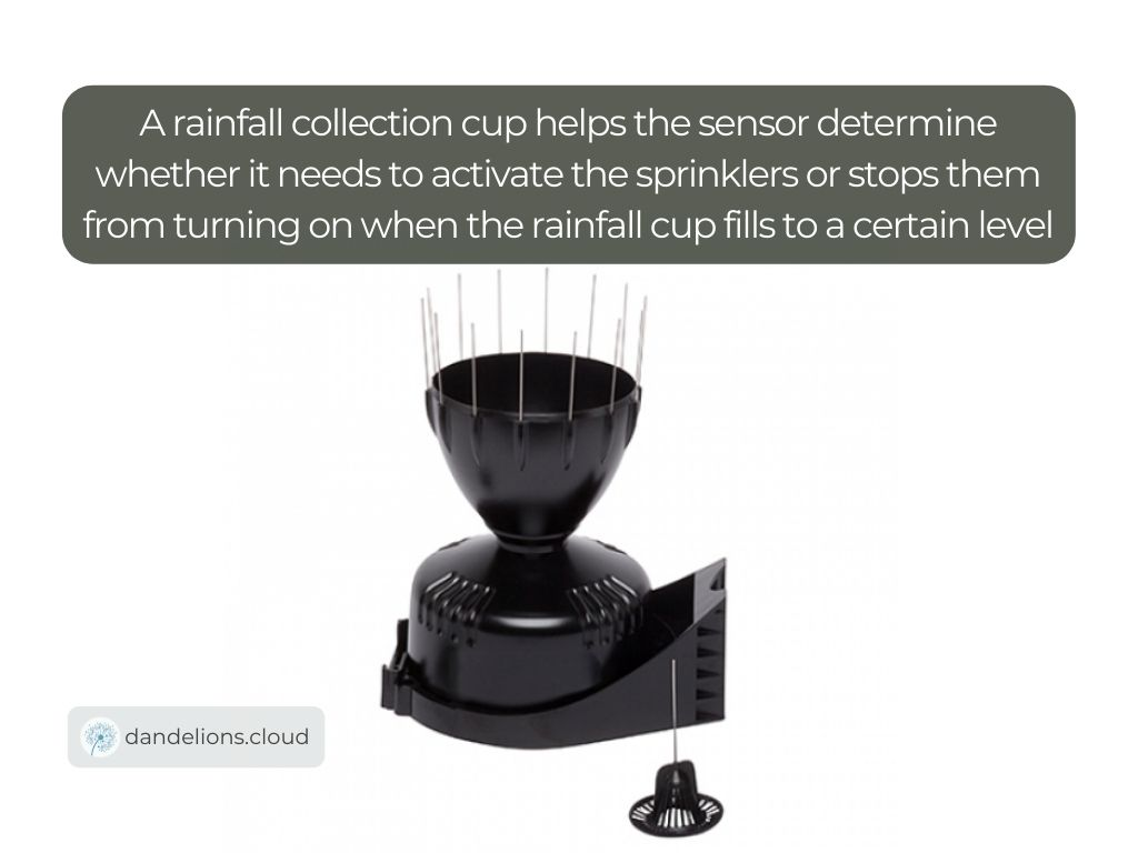 A rainfall collection cup helps the sensor determine whether it needs to activate the sprinklers or stops them from turning on when the rainfall cup fills to a certain level   Image credit: Instrument Choice