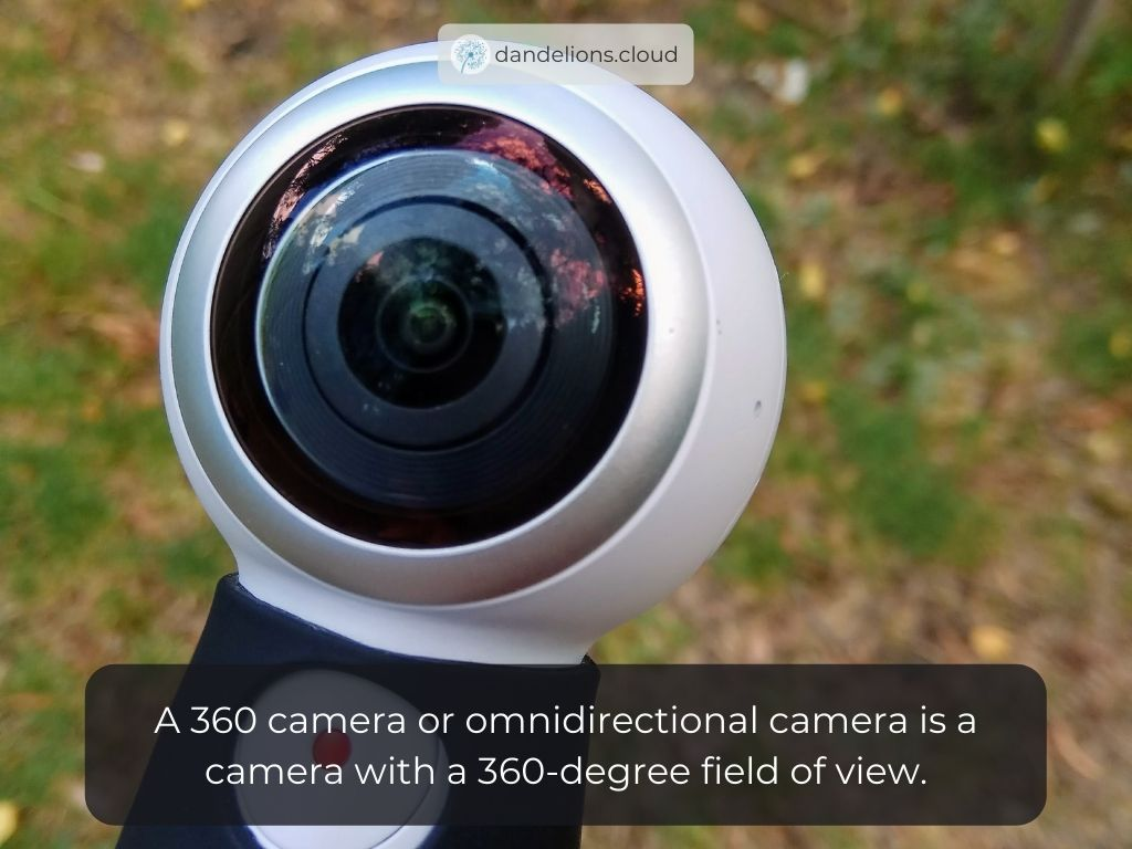 A 360 camera or omnidirectional camera is a camera with a 360-degree field of view.