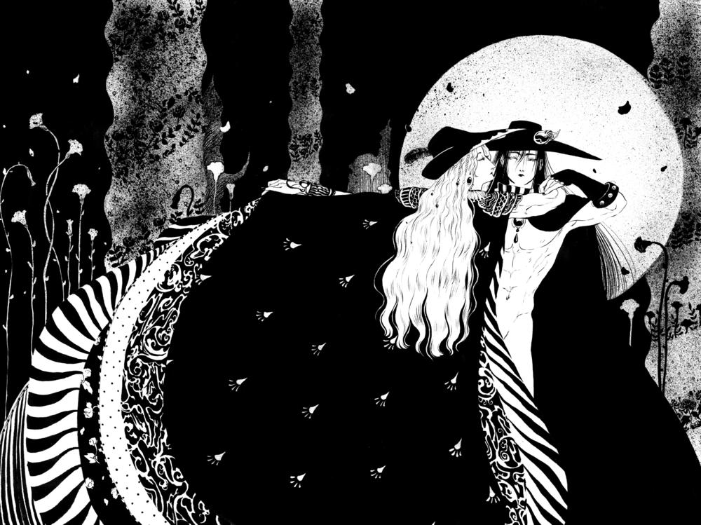 Vampire Hunter D Black and White Print