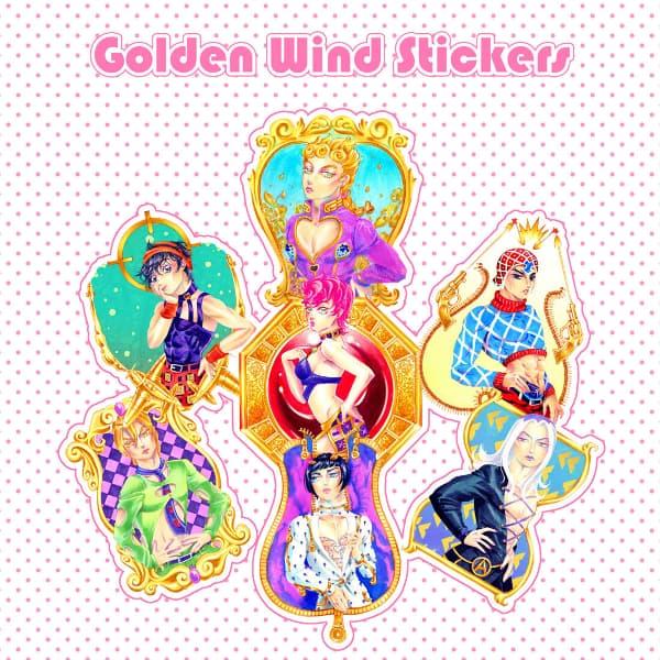 Golden Wind Stickers