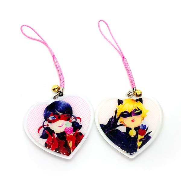 Ladybug Heart & Chat Noir Charms